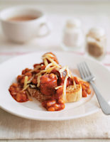 Sausage and Cheese Baked Beans