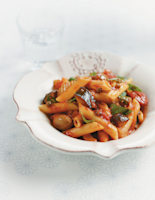 Penne with Caponata Sauce