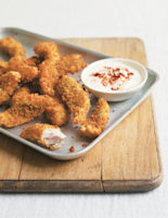 Mackerel Goujons with Soured Cream and Paprika Dip