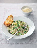 Pea, Parmesan and Mint Risotto
