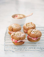 Crushed Strawberry and Lime Shortbreads