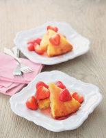 Lemon Polenta Cake with Vanilla Strawberries