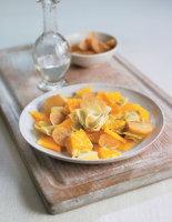 Artichoke, Clementine and Preserved Lemon Salad
