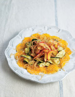 Roasted Courgette, Apple and Clementine Salad