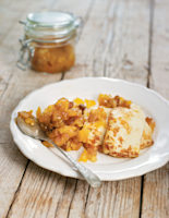 Apricot and Apple Chutney with Pan-Fried Haloumi