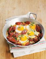 Chorizo and Parsley Eggs