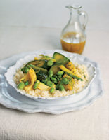 Couscous with Spring Vegetables and Dill