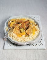 Couscous with Orangey Fennel and Courgette