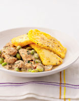Chicken & Mushrooms with Polenta