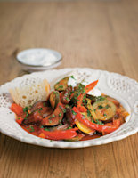 Spicy Courgette, Aubergine and Date Tagine