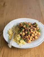 Ras el Hanout Lentils and Chickpeas