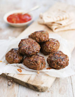 Moroccan Onion and Cumin Beef Burgers