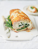 Cheese Roulade with Spinach and Walnuts