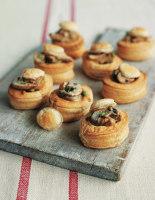 Onion and Mushroom Vol-au-Vents