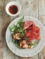 Warm Fig and Prosciutto Salad with Gorgonzola