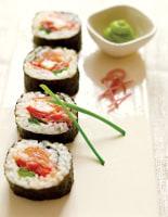 Smoked Salmon & Prawn Sushi