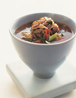 Black Bean Soup with Noodles