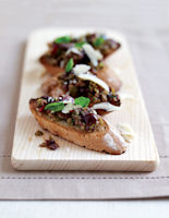 Black Olive Tapenade Toasts