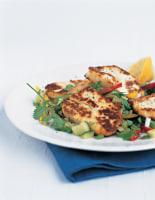 Hot Haloumi with Fattoush Salad