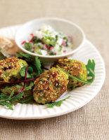 Minted Pea & Sesame Falafel