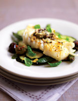 Seared Cod with Olive Butter