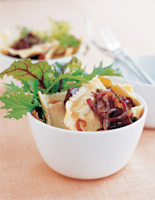 Warm Ravioli Salad with Beetroot