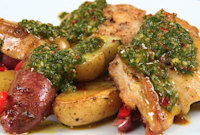 How to Make Chimichurri Chicken Thighs with Potatoes 16.9