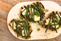 How to Make Grilled Asparagus and Ricotta Pizzettes