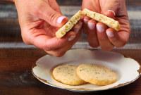 Lavander Rosemary Shortbread Cookies
