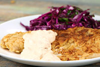 How to Make Tortilla Crusted Tilapia with Citrus Slaw and Chipotle Tartar Sauce