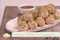 How to Make Pineapple Teriyaki Chicken Meatballs