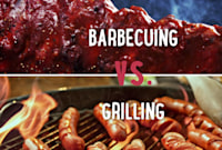 Barbecuing vs. Grilling