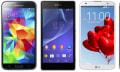 Vergleich: Samsung Galaxys S5 vs Xperia Z2, LG G Pro 2 und HTC One