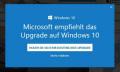 Dreist: Microsoft tarnt Werbung für Windows 10 als Sicherheits-Patch