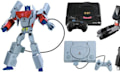 Transformers x Retro-Konsolen: Optimus Prime und Megatron in Supertarnung