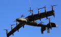 Elektro-Flieger mit 3 Meter Spannweite und 10 Kipprotoren hebt ab