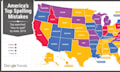 Landkarte: Google offenbart Rechtschreibschwächen in den USA