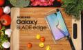 Smart MesserPhone: Galaxy BLADE edge mit Diamantkante hackt Gemüse (eh klar)