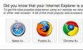 Internet Explorer muss nicht mehr andere Browser empfehlen