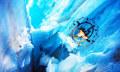 Drohne fliegt durch Gletscherspalte (Video)