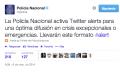 Twitter Alerts ya está disponible en España con la Policía