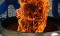 4K-Superzeitlupe: 12 Ventilatoren entfachen einen Feuertornado