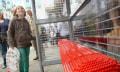 Leider nur temporär: Bushaltestelle aus Lego
