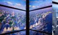 1 WTC: Fahrstuhl-Display zeigt Entstehung der New Yorker Skyline (Video)