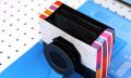 Ein Buch als analoge Kamera mit Entwicklungslabor
