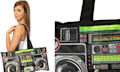 Boombox Ghetto Blaster in der Retro Tasche