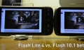 Video: Flash 10.1 auf Froyo vs. Flash Lite 4 auf Eclair (Update)