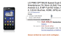 LG Optimus Speed / 2X und Optimus Black für 499 Euro bei Amazon gesichtet