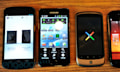 Familienfeier: Samsung Galaxy Nexus vs. Galaxy S II, Nexus One und Nexus S (Video)
