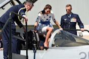 Kate Middleton takes control of fighter jet on royal tour